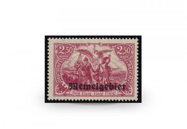 Briefmarke Memel/Deutsche Gebiete 1920 Michel-Nr. 13 d postfrisch geprüft