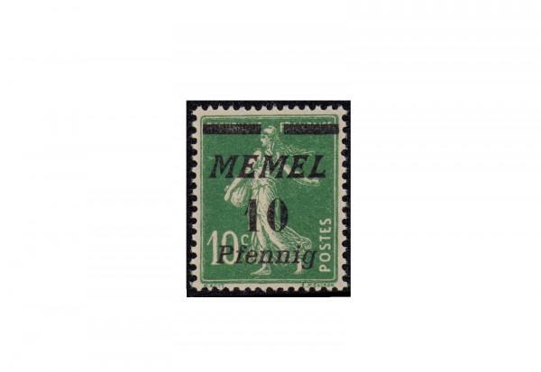Briefmarke Memel/Deutsche Gebiete 1922 Michel-Nr. 54 b postfrisch geprüft