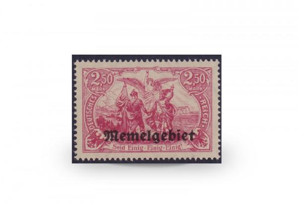 Briefmarke Memel/Deutsche Gebiete 1920 Michel-Nr. 13 c postfrisch Befund