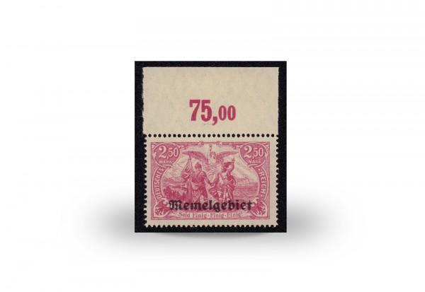 Briefmarke Memel/Deutsche Gebiete 1920 Michel-Nr. 13 c postfrisch geprüft