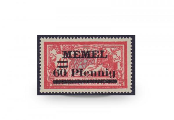 Briefmarke Memel/Deutsche Gebiete 1921 Michel-Nr. 36 a postfrisch Befund