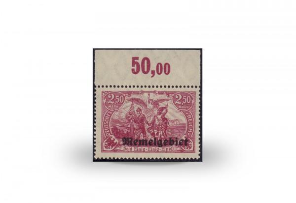Briefmarke Memel/Deutsche Gebiete 1920 Michel-Nr. 13 d postfrisch Befund