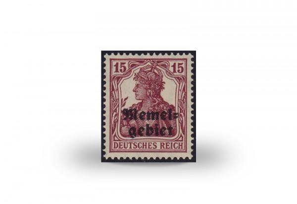 Briefmarke Memel Germania Aufdruck 1920 Michel-Nr. 3 ay postfrisch Fotoattest