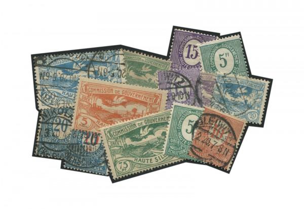 Deutsches Reich: Oberschlesien Briefmarkenausgaben 1920-1923 postfrisch und gestempelt