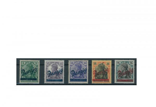 Briefmarken Deutsches Reich Danzig Einzelausgaben 1920-1939 Michel-Nr. 21-25 postfrisch