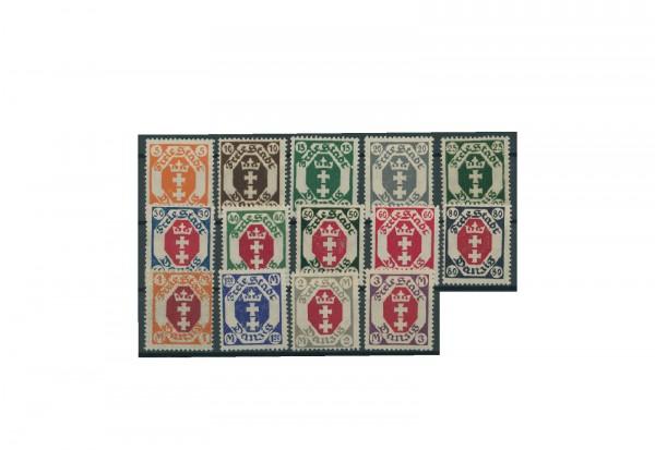 Briefmarke Deutsches Reich Freie Stadt Danzig 1921 Michel-Nr. 73/86 postfrisch