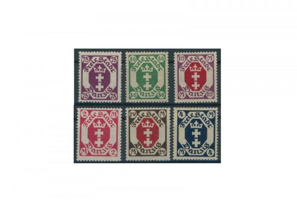 Briefmarken Deutsches Reich Danzig 1922 Michel-Nr. 93-98