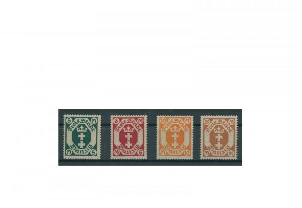 Briefmarke Deutsches Reich Freie Stadt Danzig 1922 Michel-Nr. 108/11 postfrisch