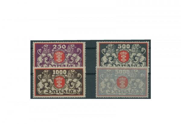 Briefmarken Deutsches Reich Danzig Einzelausgaben 1920-1939 Michel-Nr. 119-122 postfrisch