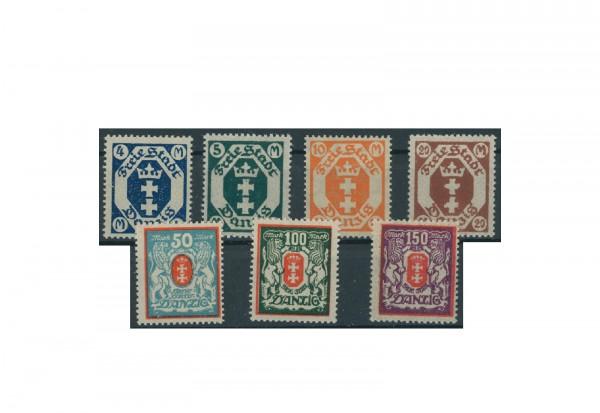 Briefmarken Deutsches Reich Danzig Einzelausgaben 1920-1939 Michel-Nr. 123-129 postfrisch