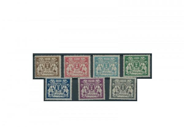 Briefmarken Deutsches Reich Danzig Einzelausgaben 1920-1939 Michel-Nr. 151-157 postfrisch