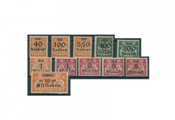 Briefmarken Deutsches Reich Danzig Einzelausgaben 1920-1939 Michel-Nr. 158-168 postfrisch