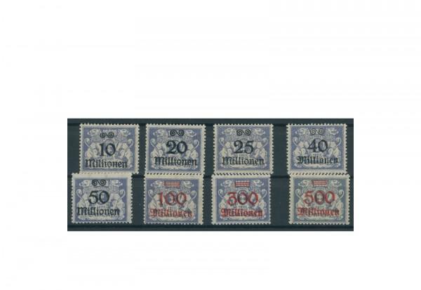 Briefmarken Deutsches Reich Einzelausgaben Danzig 1920-1939 Michel-Nr. 169-176 postfrisch