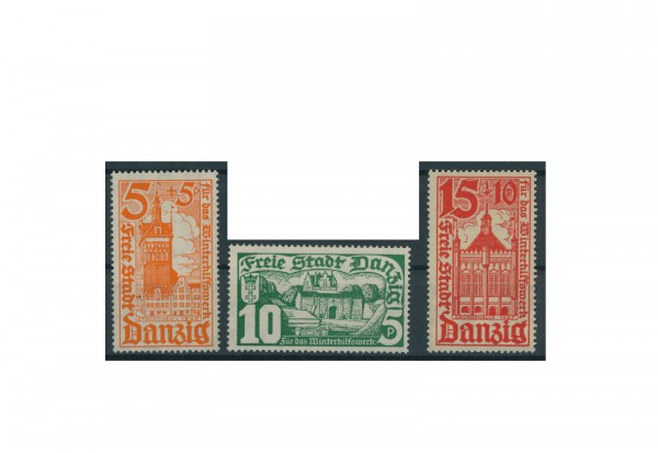 Briefmarken Deutsches Reich Einzelausgaben Danzig 1920-1939 Michel-Nr. 256-258 postfrisch