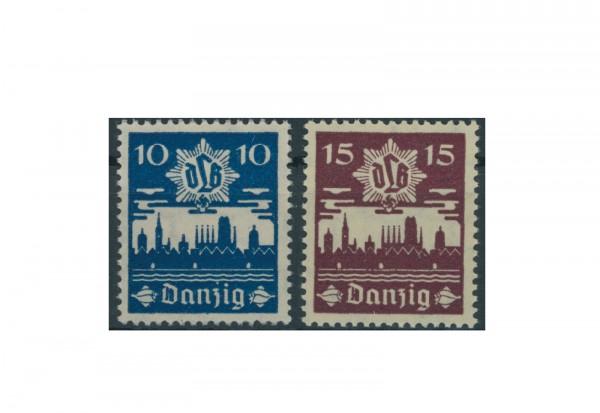 Briefmarke Deutsches Reich Freie Stadt Danzig 1937 Danziger Luftschutz Michel-Nr. 267/68 postfrisch