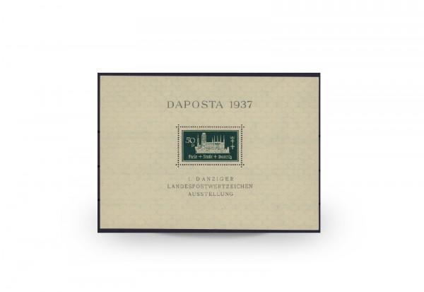 Briefmarken Danzig DAPOSTA 1937 Block 1 b postfrisch