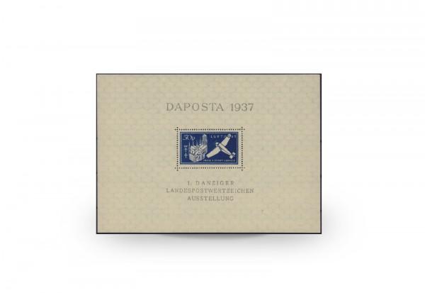 Briefmarken Danzig DAPOSTA 1937 Block 2 b postfrisch