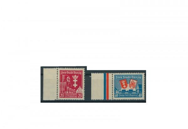 Briefmarke Deutsches Reich Freie Stadt Danzig 1937 Danziger Dorf Michel-Nr. 274/75 postfrisch