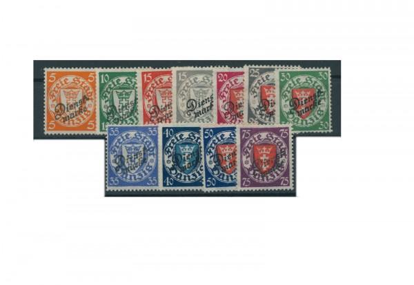 Briefmarken Deutsches Reich Dienstmarken Danzig 1924 Michel Nr. D41-51 postfrisch