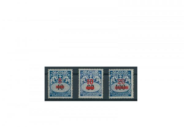 Briefmarken Deutsches Reich Danzig Portomarken 1921-1938 Michel-Nr. P 40-42 postfrisch