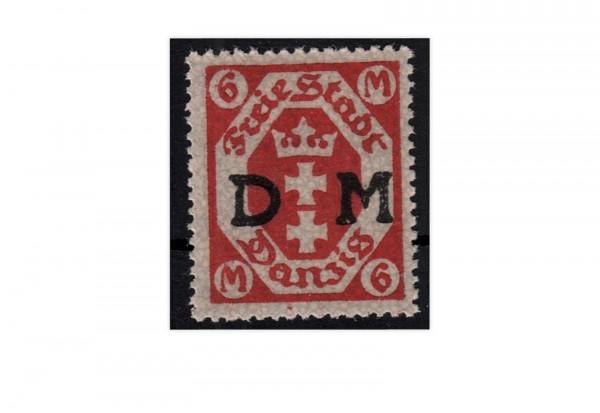 Danzig Mi.Nr. D 26 b ** gp. Dienstmarke