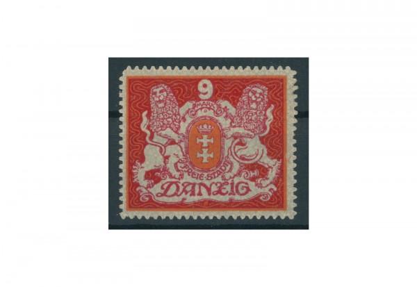 Briefmarke Deutsches Reich Danzig Staatswappen 1921 Michel-Nr. 99 mit Falz