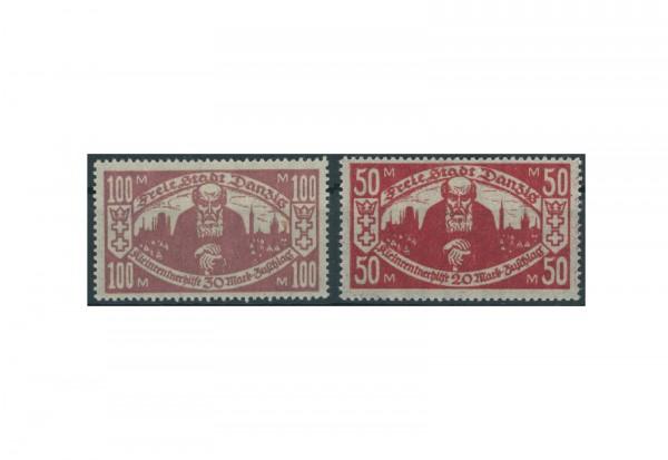 Briefmarken Deutsches Reich Freie Stadt Danzig 1920-1939 Michel-Nr. 131-132 Falz