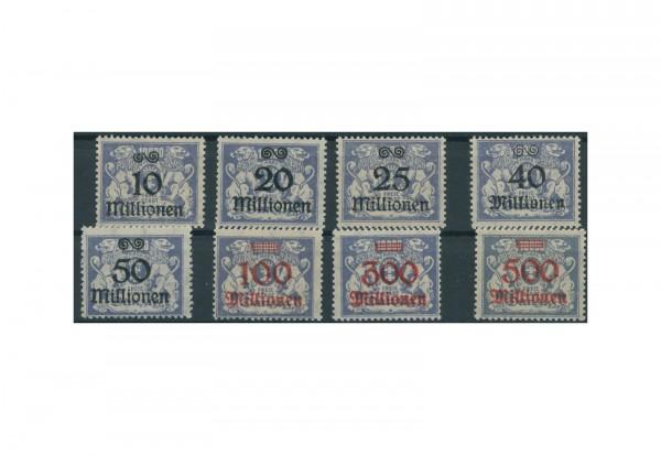 Briefmarken Deutsches Reich Freie Stadt Danzig 1920-1939 Michel-Nr. 169-176 Falz