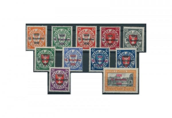 Briefmarken Deutsches Reich Luftpostausstellung Freimarken Danzig 1932 Michel Nr. 231-235 Falz