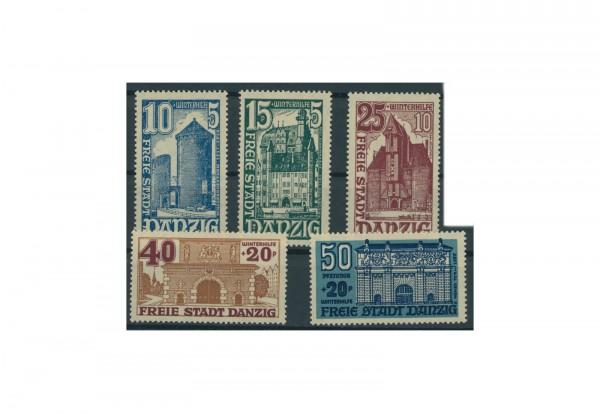 Briefmarken Deutsches Reich Freie Stadt Danzig 1920-1939 Michel-Nr. 262-266 Falz