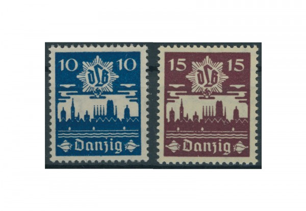 Briefmarken Deutsches Reich Freie Stadt Danzig 1920-1939 Michel-Nr. 267-268 Falz