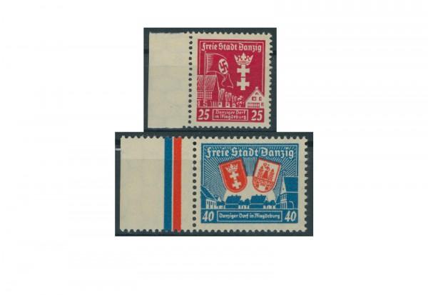 Briefmarken Deutsches Reich Freie Stadt Danzig 1920-1939 Michel-Nr. 274-275 Falz