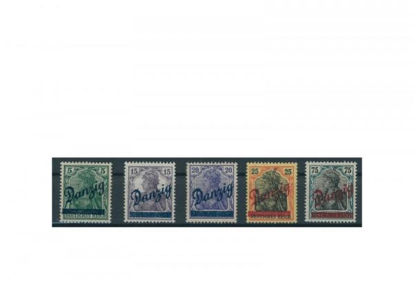 Briefmarken Deutsches Reich Einzelausgaben Danzig 1920-1939 Michel-Nr. 21-25 gestempelt