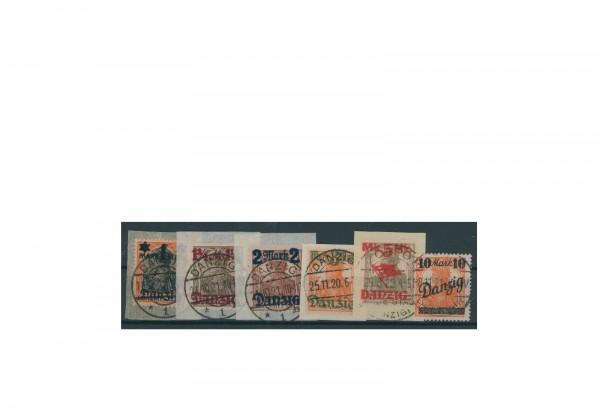 Briefmarken Deutsches Reich Einzelausgaben Danzig 1920-1939 Michel-Nr. 41-46 I gestempelt