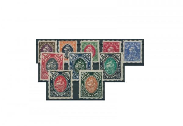 Briefmarken Deutsches Reich Einzelausgaben Danzig 1920-1939 Michel-Nr. 53-62 gestempelt