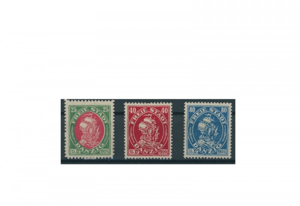 Briefmarken Deutsches Reich Einzelausgaben Danzig 1920-1939 Michel-Nr. 63-65 gestempelt