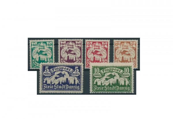 Briefmarken Deutsches Reich Einzelausgaben Danzig 1920-1939 Michel-Nr. 66-71 gestempelt