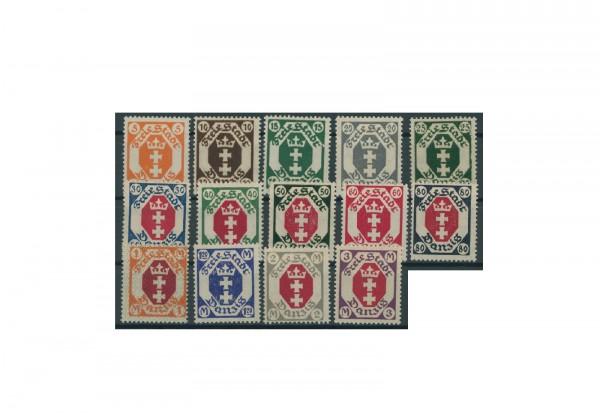 Briefmarken Deutsches Reich Einzelausgaben Danzig 1920-1939 Michel-Nr. 73-86 gestempelt