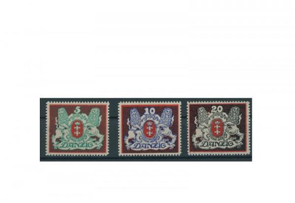 Briefmarken Deutsches Reich Einzelausgaben Danzig 1920-1939 Michel-Nr. 87-89 gestempelt