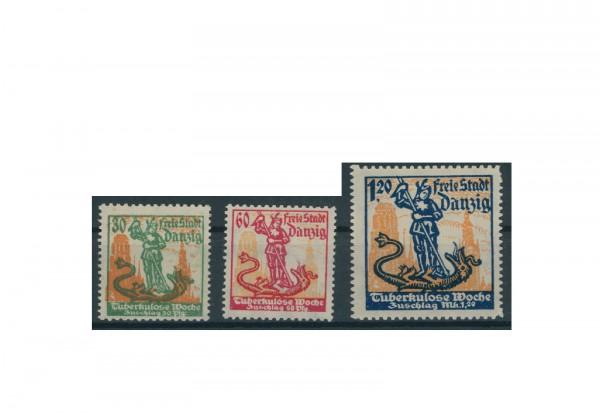 Briefmarken Deutsches Reich Einzelausgaben Danzig 1920-1939 Michel-Nr. 90-92 gestempelt