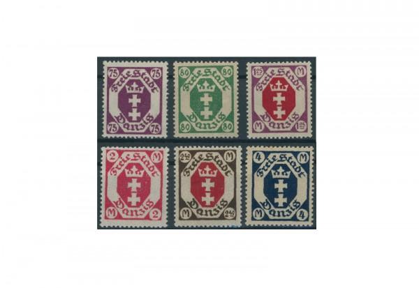 Briefmarken Deutsches Reich Einzelausgaben Danzig 1920-1939 Michel-Nr. 93-98 gestempelt