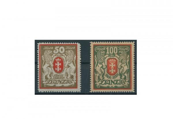 Briefmarken Deutsches Reich Einzelausgaben Danzig 1920-1939 Michel-Nr. 100-101 gestempelt