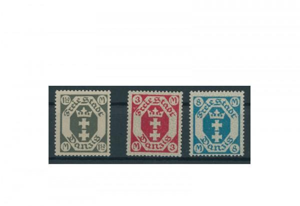 Briefmarken Deutsches Reich Einzelausgaben Danzig 1920-1939 Michel-Nr. 103-105 gestempelt