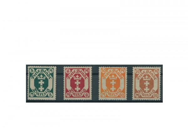 Briefmarken Deutsches Reich Einzelausgaben Danzig 1920-1939 Michel-Nr. 108-111 gestempelt