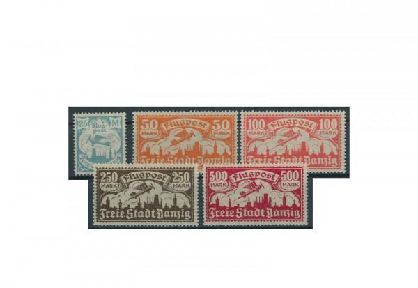Briefmarken Deutsches Reich Einzelausgaben Danzig 1920-1939 Michel-Nr. 133-137 gestempelt