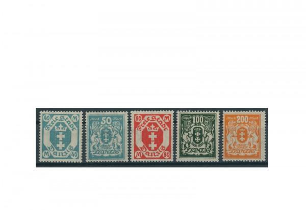 Briefmarken Deutsches Reich Einzelausgaben Danzig 1920-1939 Michel-Nr. 138-142 gestempelt