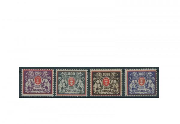 Briefmarken Deutsches Reich Einzelausgaben Danzig 1920-1939 Michel-Nr. 143-146 gestempelt