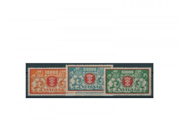 Briefmarken Deutsches Reich Einzelausgaben Danzig 1920-1939 Michel-Nr. 147-149 gestempelt