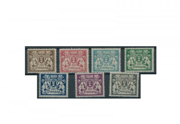 Briefmarken Deutsches Reich Einzelausgaben Danzig 1920-1939 Michel-Nr. 151-157 gestempelt