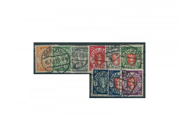 Briefmarken Deutsches Reich Einzelausgaben Danzig 1920-1939 Michel-Nr. 193-201 gestempelt